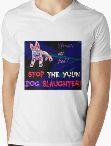 STOP the Yulin Dog Slaughter  Mens V-Neck T-Shirt
