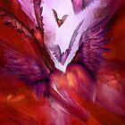 Flight Of The Heart - Red by Carol  Cavalaris