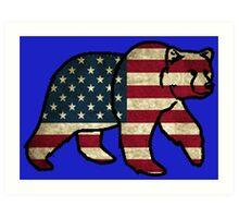 America Bear Art Print
