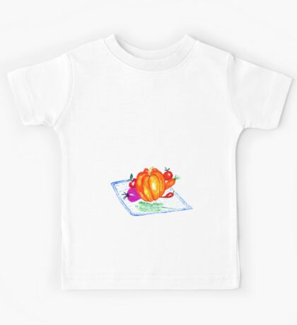 Collection of Vegetables Kids Tee