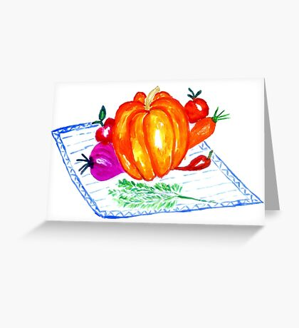 Collection of Vegetables Greeting Card