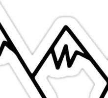 Mountain sticker Sticker