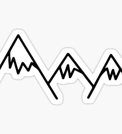 Mountain sticker Sticker