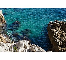 Cote D Azur - Stark White and Silky Azure Blue Photographic Print