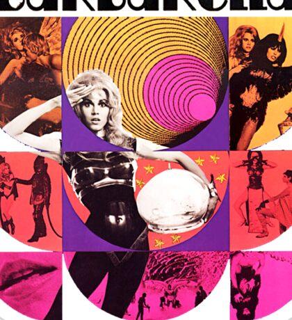 Barbarella - cult movie 1969 Sticker