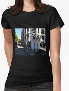 Centre Pompidou from a window opposite. Womens Fitted T-Shirt
