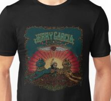 Jerry Garcia - Playing on Roses Field Unisex T-Shirt