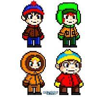 South Park Boys - Pixel Art Photographic Print