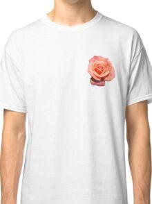 Pink Orange Floral Rose  Classic T-Shirt