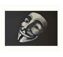 V is for Vendetta Art Print