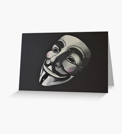 V is for Vendetta Greeting Card