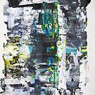 Niagara Falls Music, Abstract Original painting ART by Dmitri Matkovsky