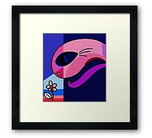 Stange love Framed Print