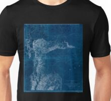 0077 Railroad Maps From the valley of Green River to the Great Salt Inverted Unisex T-Shirt