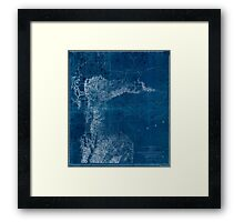 0077 Railroad Maps From the valley of Green River to the Great Salt Inverted Framed Print