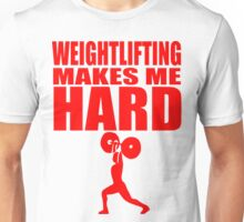 Funny Sport - Weight Lifting Makes Me Hard - red Unisex T-Shirt