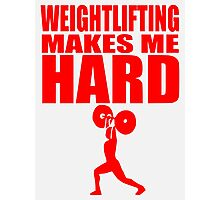 Funny Sport - Weight Lifting Makes Me Hard - red Photographic Print