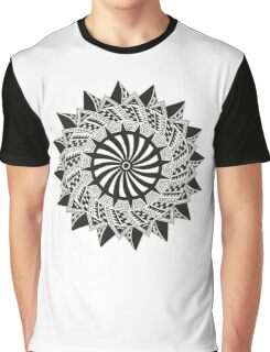 Black abstract drawing Graphic T-Shirt