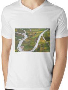 Vineyards in the Rhone-valley - Switzerland Mens V-Neck T-Shirt
