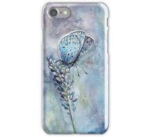 Schmetterling auf Lavendel iPhone Case/Skin