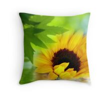 A Sunflower in Shade Throw Pillow