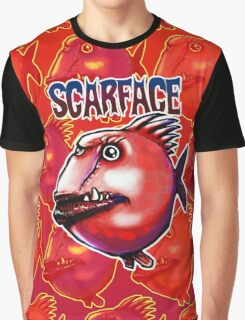 scarface fish cartoon style illustration  Graphic T-Shirt