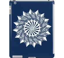 White abstract drawing iPad Case/Skin
