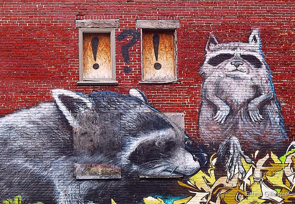 Raccoons  by Ethna Gillespie