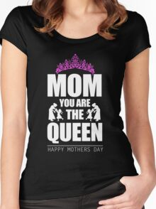 Mom - Mom You Are The Queen T-shirts Women's Fitted Scoop T-Shirt