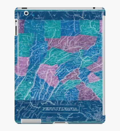 0161 Railroad Maps Inverted iPad Case/Skin