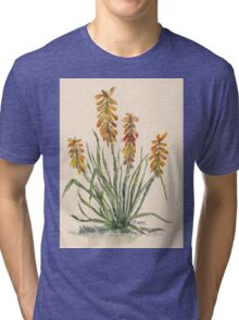 Kniphofia (Red Hot Poker) Tri-blend T-Shirt