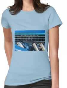 Blue Super-Charged Womens Fitted T-Shirt