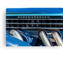 Blue Super-Charged Canvas Print