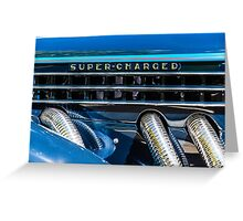 Blue Super-Charged Greeting Card