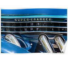 Blue Super-Charged Poster