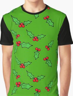Green Holly Graphic T-Shirt