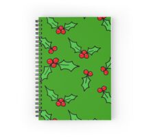 Green Holly Spiral Notebook