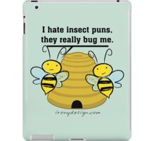 Insect Puns Bug Me Funny Bumble Bees iPad Case/Skin