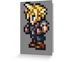 -FINAL FANTASY- Cloud Pixel Greeting Card