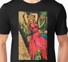 Girl in red dress captured by a madman and his minions Unisex T-Shirt