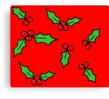 Red Holly Canvas Print