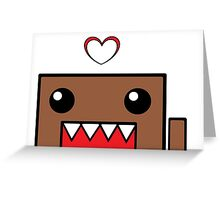 Domo, Hello! (White Background) Greeting Card