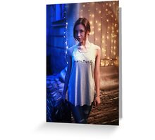 girl in a vest Greeting Card