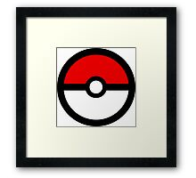 Use your pokeball Framed Print