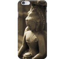 Buddha carving - Swayambhunath Temple, Kathmandu iPhone Case/Skin