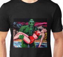 The swamp monster carrying his victim Unisex T-Shirt