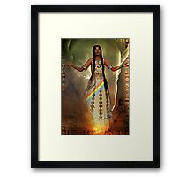white buffalo calf woman Framed Print