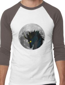 Sky and Moon - White Men's Baseball ¾ T-Shirt