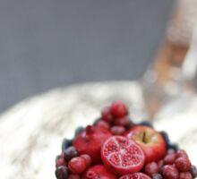 Burgundy Fruit Cup Sticker