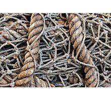 Rope Fishing Net Photographic Print